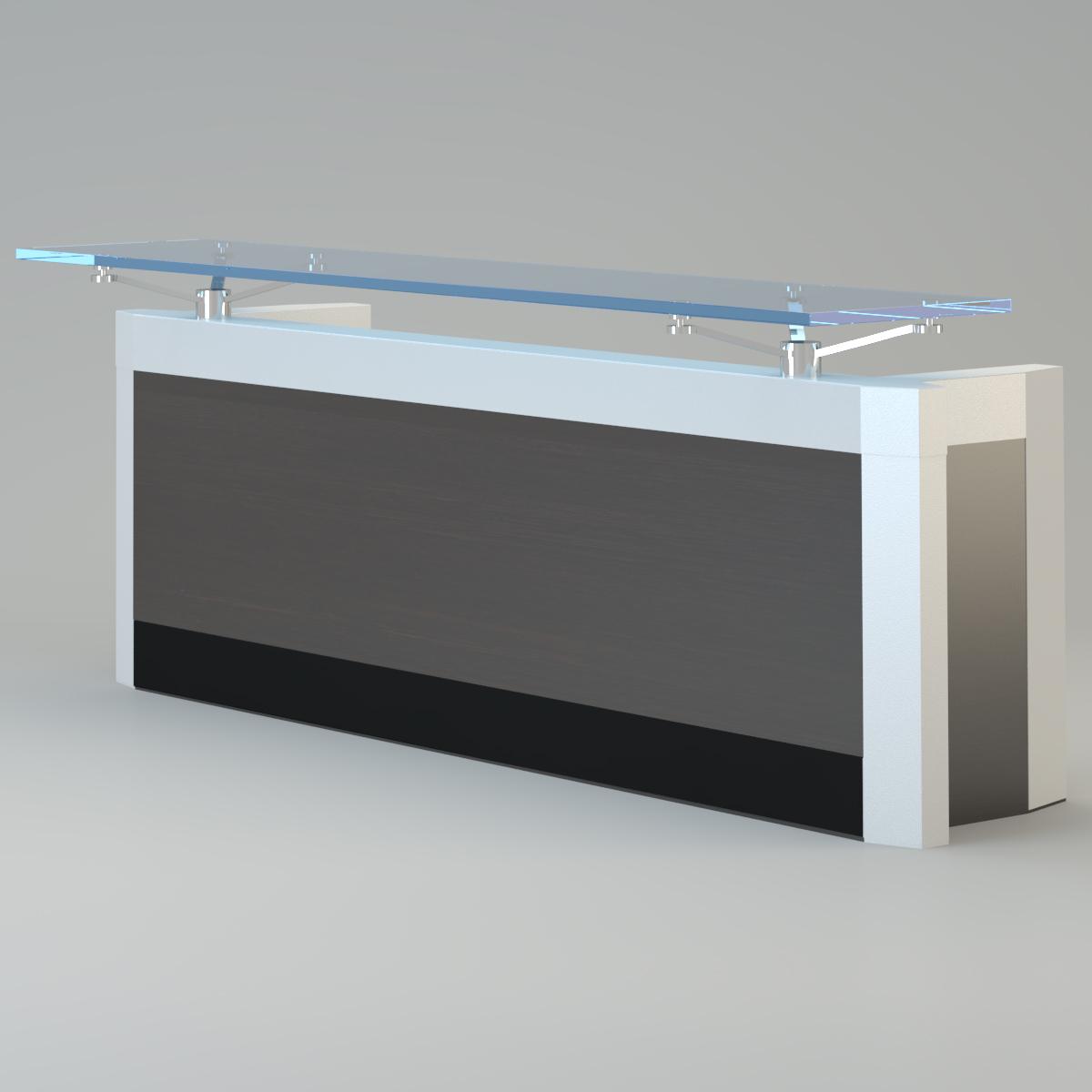 Contemporary reception desk 3d model max for Model furniture