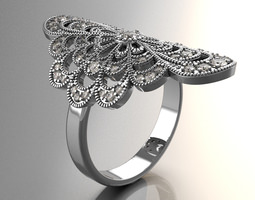 Ring for Womens 3D printable model character
