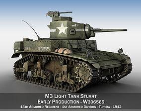3D model M3 Light Tank Stuart - W306565