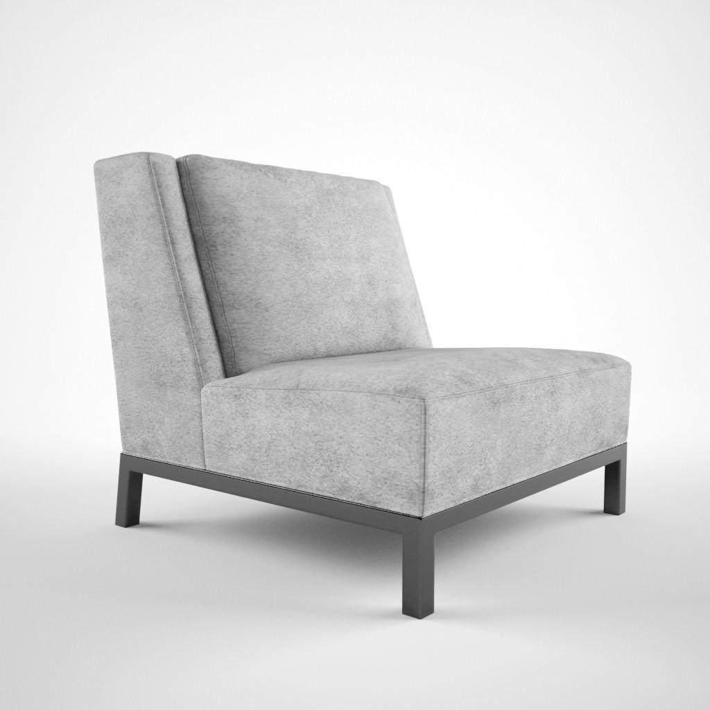 Christian Liaigre Lounge chair 3D Model MAX OBJ FBX