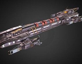 Cargo Spaceship 3D asset