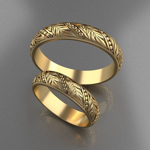 Wedding Rings 3D print model CGTrader