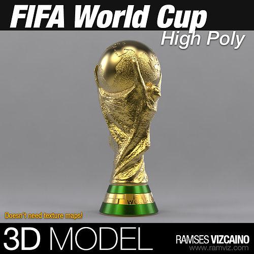 fifa world cup 3d model max obj fbx stl mtl 1