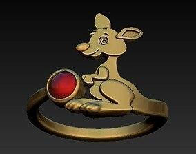 kangaroo ring 3D print model