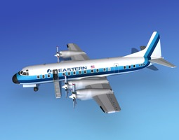 Lockheed L-188 Electra HP Eastern Airlines 3 3D