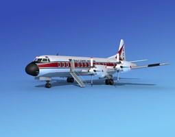 lockheed l-188 electra hp gulf coast aviation rigged 3d model