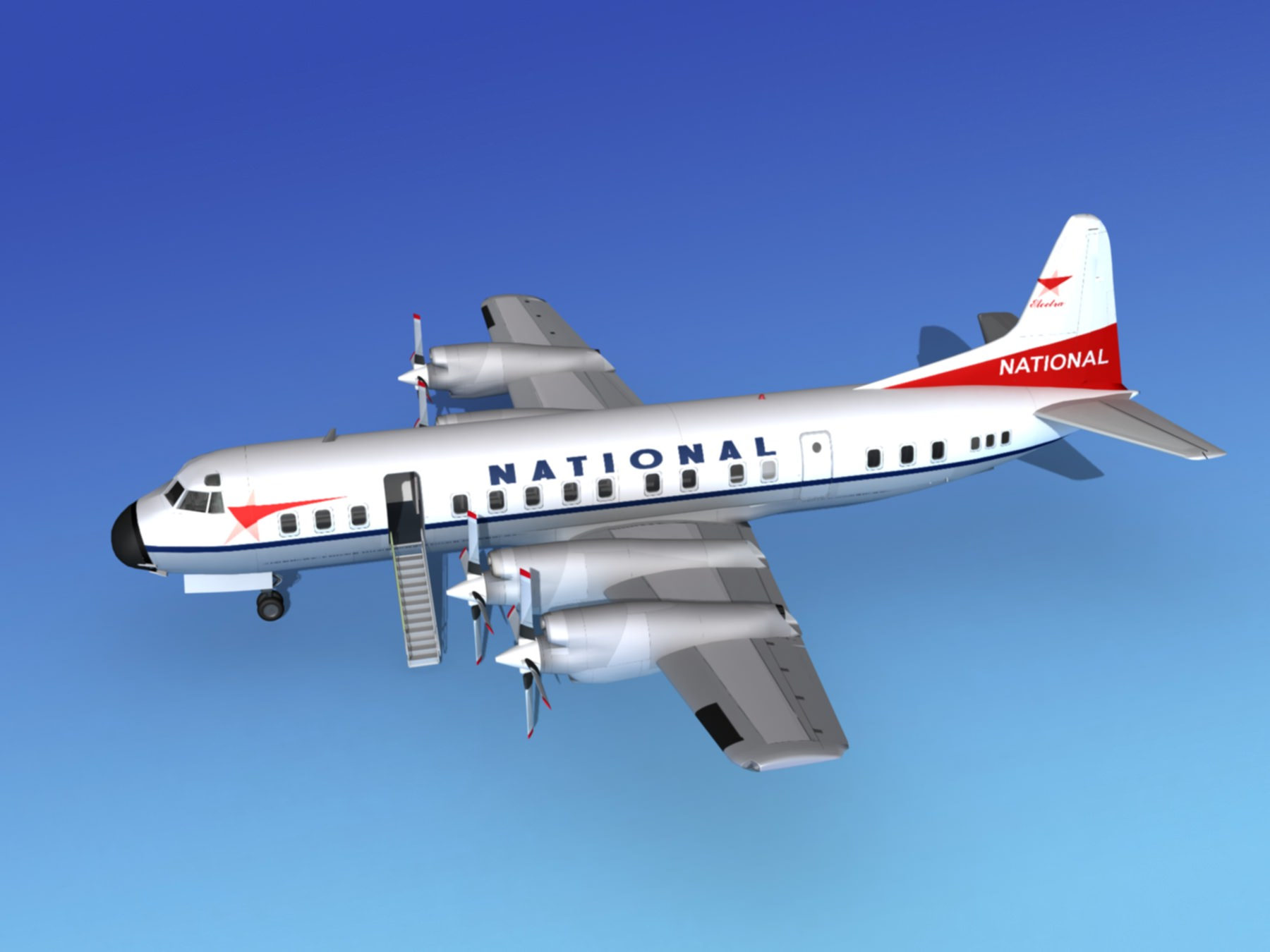 Lockheed L-188 Electra HP National Airlines | 3D model