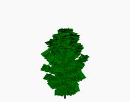 Simple Bush 3D asset