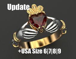 3D print model Claddagh ring