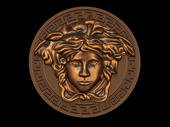 versace  logo 3d model obj mtl dxf stl blend 3dm ige igs iges 1