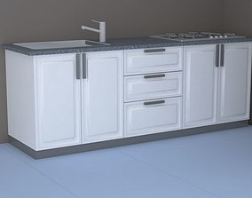 the kitchen 3D model
