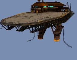 3d landing platform scifi