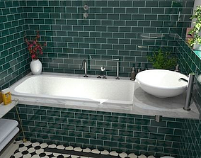 3D asset Complete bathroom 1