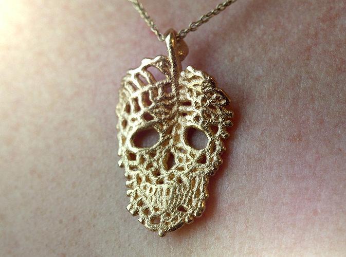Leaf Skeleton Pendant Necklace 3d Print Model Cgtrader