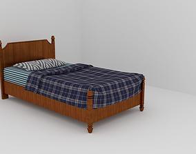bedroom 3D model Simple bed