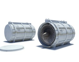 turbofan container 3d model