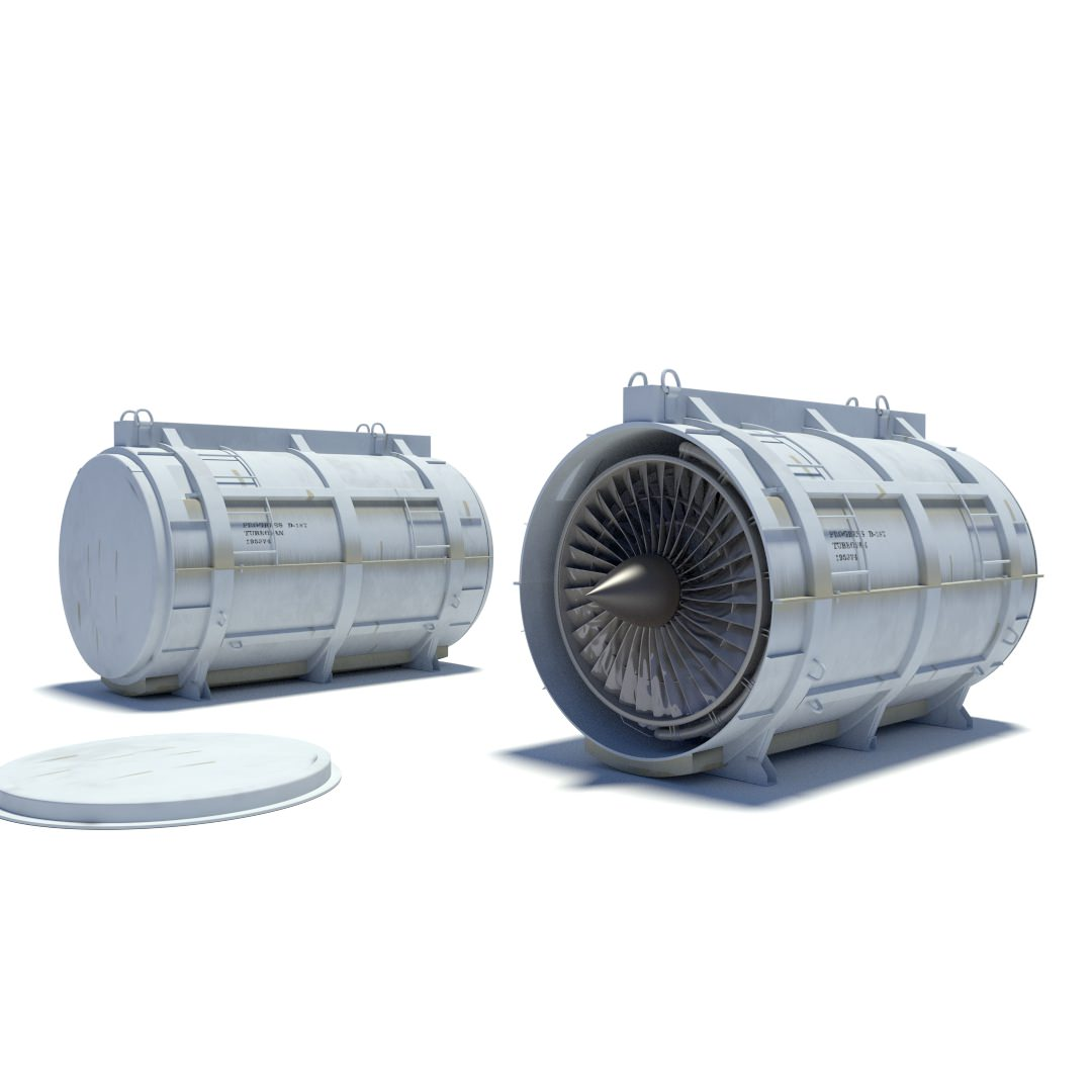 turbofan container | 3D model