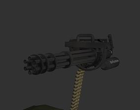3D model M134 MiniGun GatlingGun