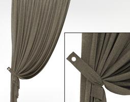 3D model Curtuins grey