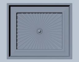 3d square wood detail