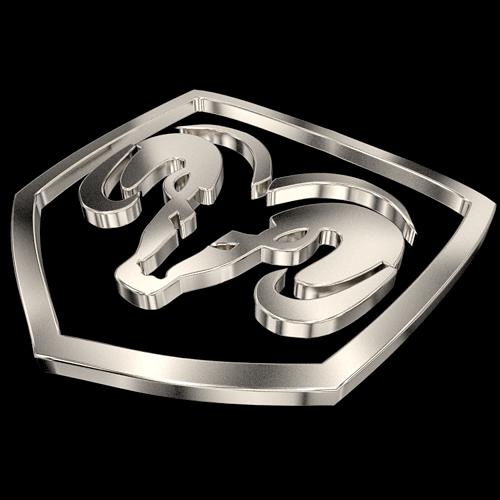 dodge ram logo free 3d model - Dodge Ram Logo