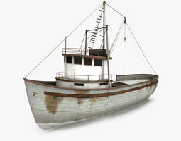 3D asset Fishing Boat