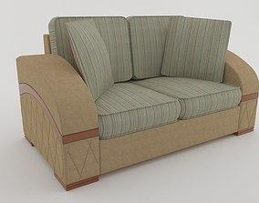 living room sofa 3D rigged