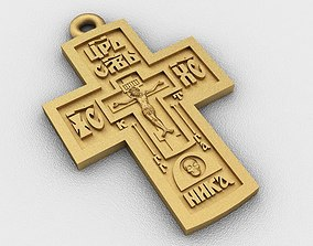pendants 3D print model Cross