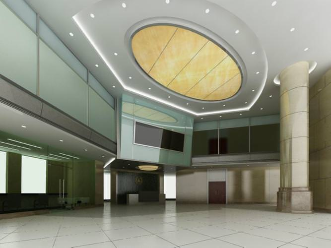 Foyer Ceiling Jobs : D aristocratic foyer with posh ceiling cgtrader