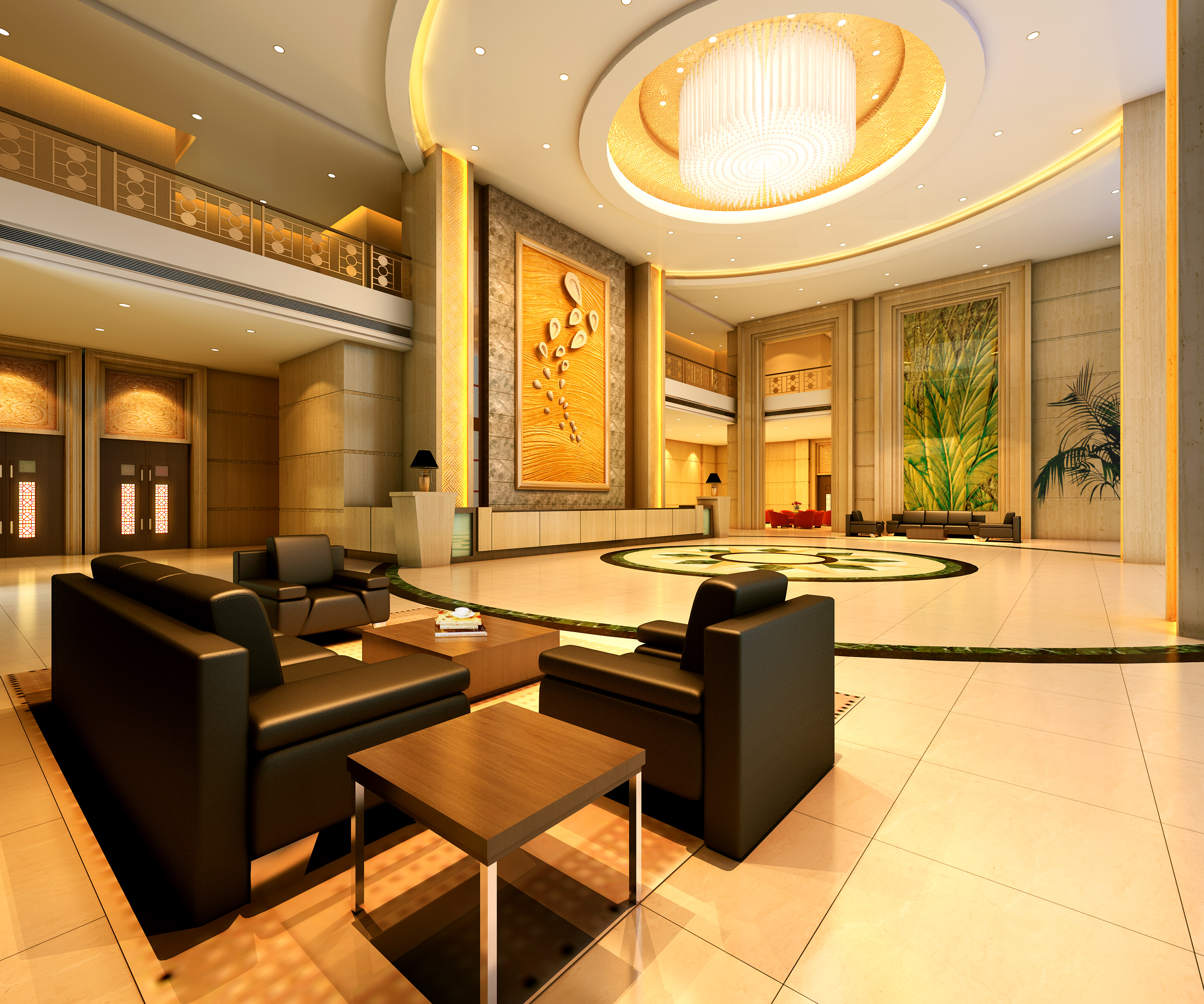 Foyer with High-end Wall Decor 3D model   CGTrader