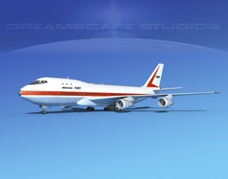 3D rigged 747-100 Jumbo Jet Boeing Aircraft