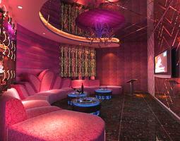 3D Posh Pub with Purple Interior
