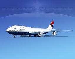 Boeing 747-100 British Airways 1 3D model