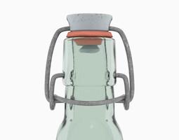 Rubber-sealed bottle 50CL 3D model