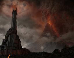 3d model the dark tower of barad-dur