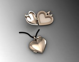Heart Pendant Picture Frame 2Parts 3D printable model