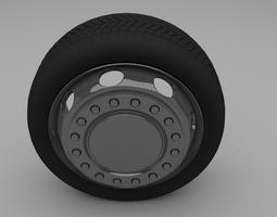 3d asset truck bus wheel VR / AR ready