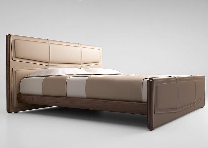giorgetti pochette bed 3d model max obj mtl 1