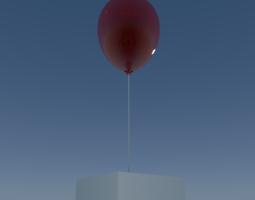 balloon 3d model animated