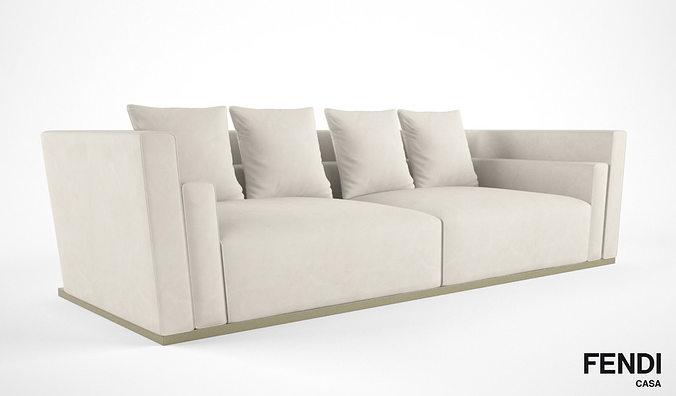 ... Fendi Casa Borromini Sofa 3d Model Max Obj Mtl Fbx 2 ...