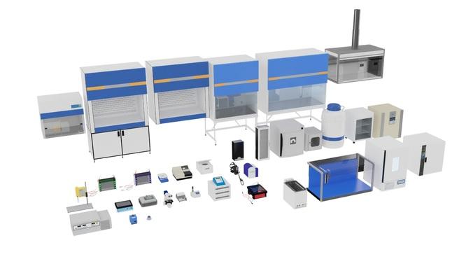 laboratory equimnets 3d model max 1