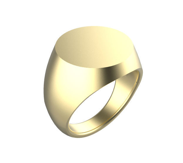 16mm - 17mm Gents Round Top Signet Ring