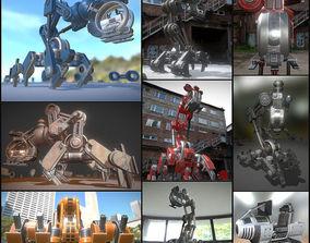 3D asset The Walking Mech Neck Collection