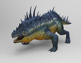 3D asset Comodo Dragon Game monster