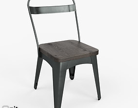 3D model Xavier Dining Chair by West Elm