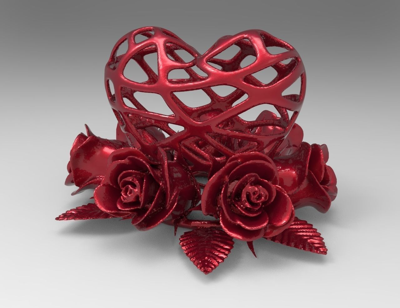Heart and Roses for 3d printing
