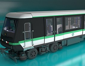 underground Paris Subway Train 3D model