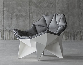 animated Q1 lounge chair 3D model