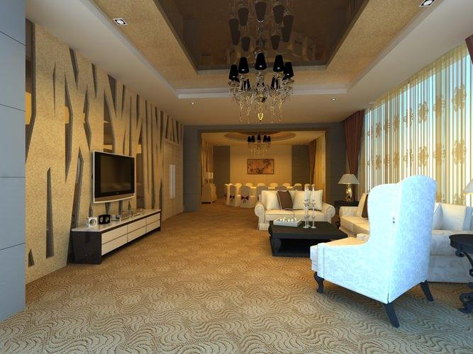 Classy Office Wall Decor : Luxury restaurant with classy wall decor d model max
