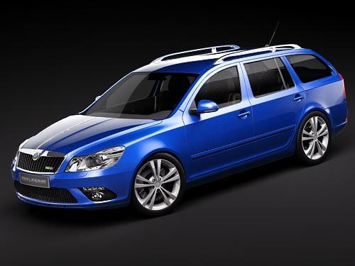 skoda octavia rs combi automobile 2010 3d model max 3ds 1